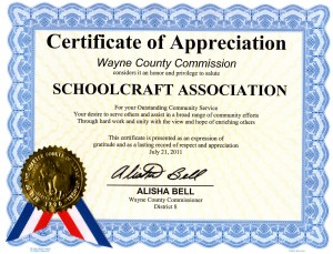SIA Certificate of Appreciation